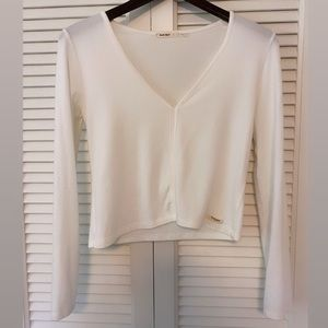 Double Agent- Crop Sexy Long Sleeve Top
